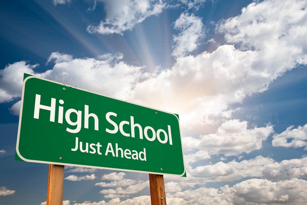high school street sign